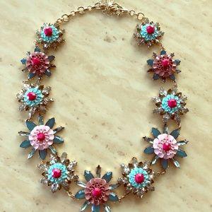 Natasha Crystal & Multicolored Floral Necklace